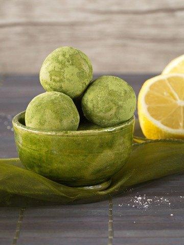 Rezept Zitronen-Matcha-Kugeln