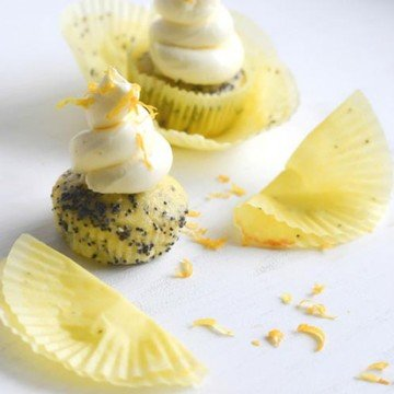 Rezept Zitronen-Mohn Cupcakes und Kuchen