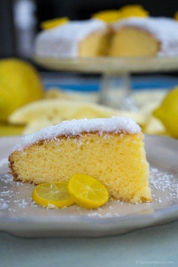 Rezept Zitronenkuchen mit Kokosflocken
