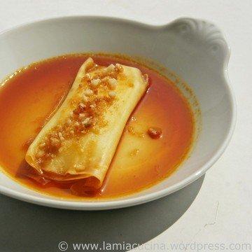 Rezept Zitronenravioli an Orangenkaramell