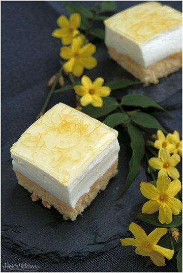 Rezept Zitronenschnitten mit Joghurtcreme