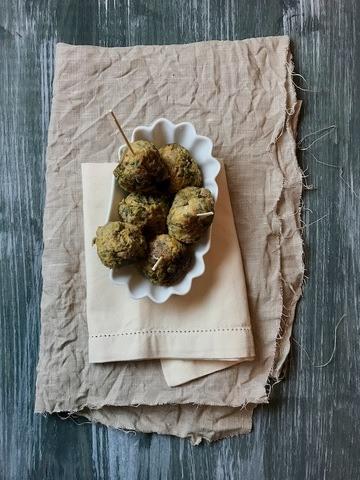 Rezept Zitronige Lauch-Fleischbällchen nach Ottolenghi