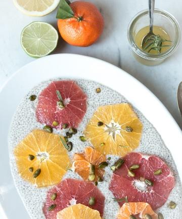 Rezept Zitrusfrüchte auf Chia Pudding