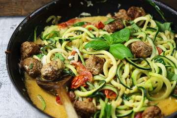 Rezept Zoodles mit Fleischbällchen