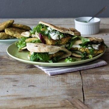 Rezept Zucchini-Burger in Fladenbrot