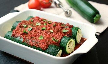 Rezept Zucchini-Cannelloni mit Zitronen-Reis-Füllung