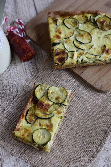 Rezept Zucchini-Chorizo-Kuchen