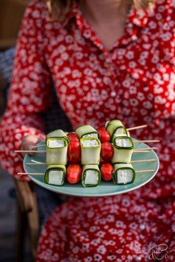 Rezept Zucchini-Feta-Spieße | vegetarisch grillen