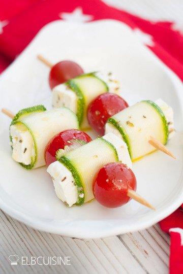 Rezept Zucchini-Feta-Tomaten-Spieße  – köstliches Fingerfood!