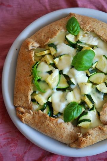 Rezept Zucchini-Galette mit Ricotta & Basilikum