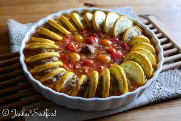 Rezept Zucchini-Hack-Auflauf