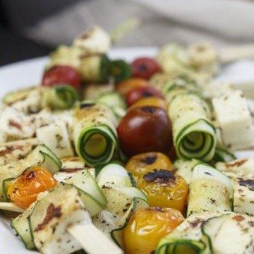 Rezept Zucchini-Halloumi-Spiesse