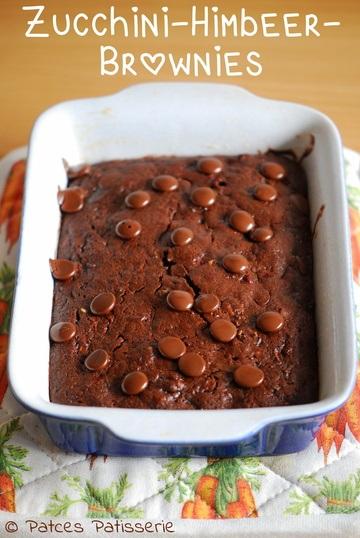 Rezept Zucchini-Himbeer-Brownies mit Vollkornmehl
