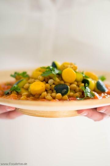 Rezept Zucchini-Kichererbsen-Pfanne