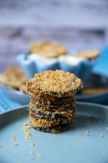 Rezept Zucchini Knusper-Chips mit Honig Senf Dip