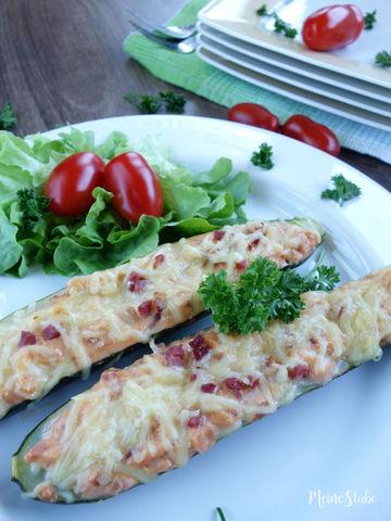 Rezept Zucchini-Schiffchen mit Frischkäse