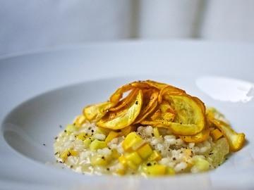 Rezept Zucchini-Zitronen-Risotto mit Zucchini-Chips
