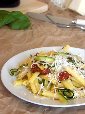Rezept Zucchininudeln mit Pasta