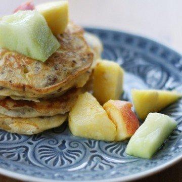 Rezept Zucchinipancakes mit Leinsamen