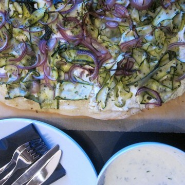 Rezept Zucchinipizza