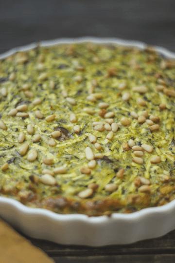 Rezept Zucchinipudding mit Pinienkernen und Oliven