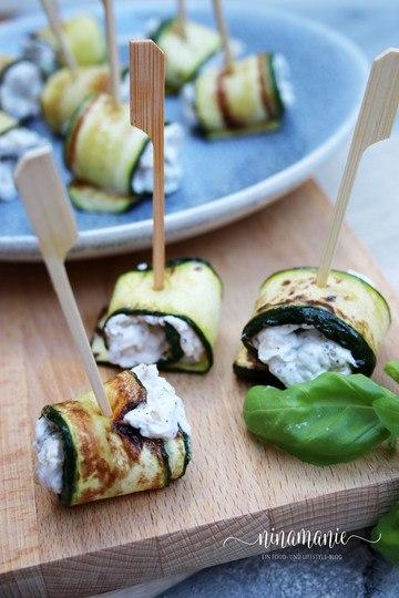 Rezept Zucchiniröllchen mit Ziegenkäse