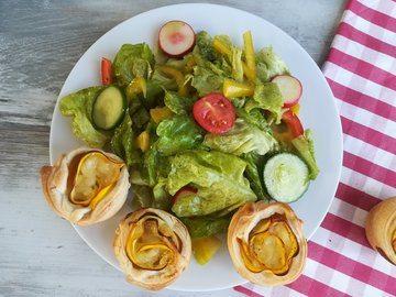 Rezept Zucchinirosen