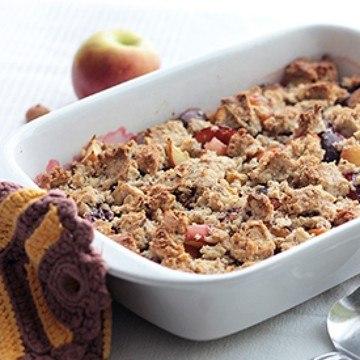 Rezept Zwetschgen-Apfel-Crumble