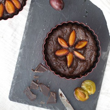 Rezept Zwetschgen-Brownie-tartelettes