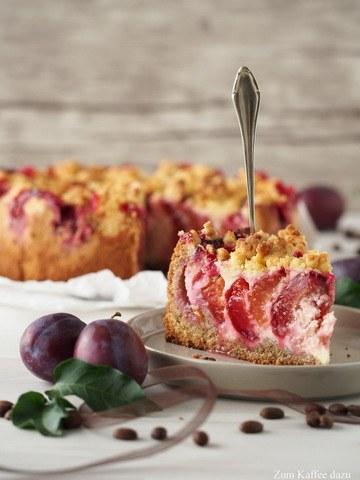 Rezept Zwetschgen-Kuchen mit Sahnequark und Espresso