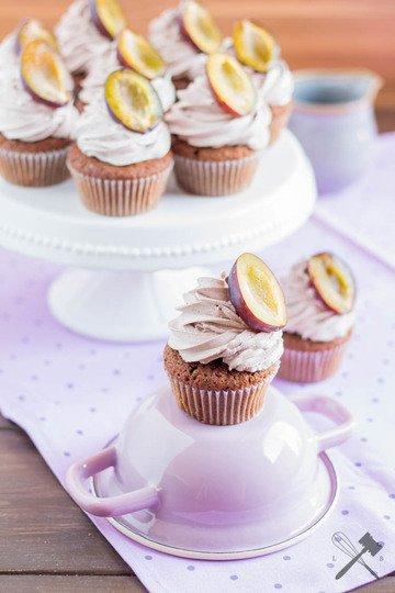 Rezept Zwetschgen Schoko Cupcakes