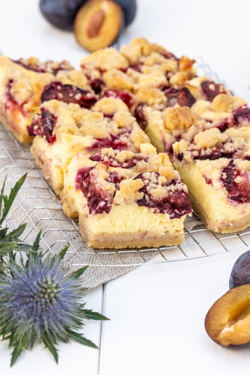 Rezept Zwetschken Topfen/Quark Streuselkuchen