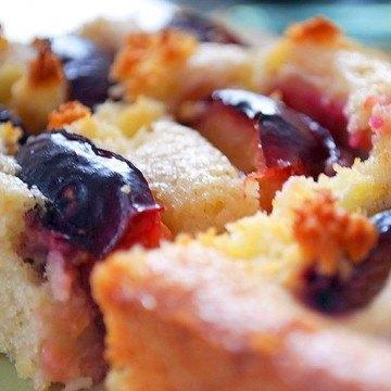 Rezept Zwetschkenkuchen mit Kokos und Buttermilch