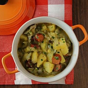 Rezept Zwiebel-Kartoffel-Eintopf mit Cabanossi