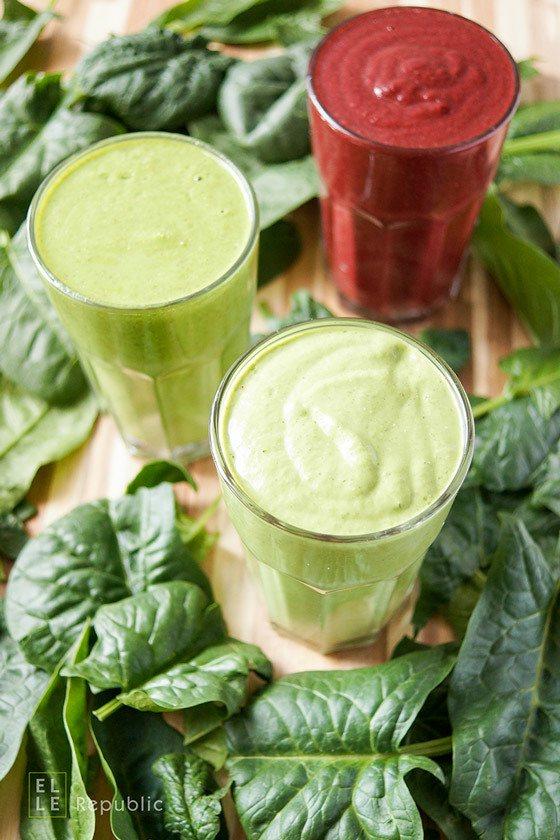 Rezept 3 Spinat-Smoothies (Grüne Smoothies für Anfänger)