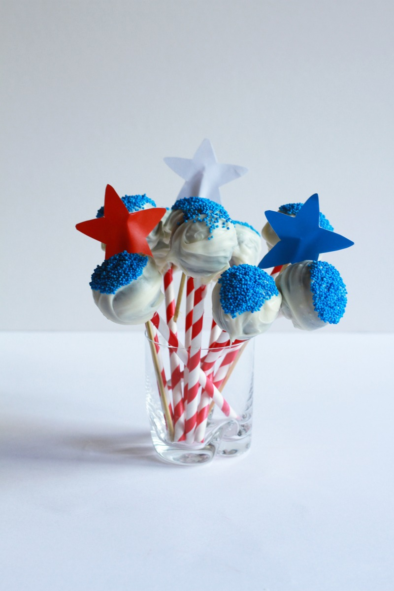 Rezept 4th of July Cake Pops