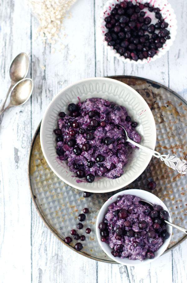 Rezept 5 Minuten Blueberry-Muffin-Oatmealpudding