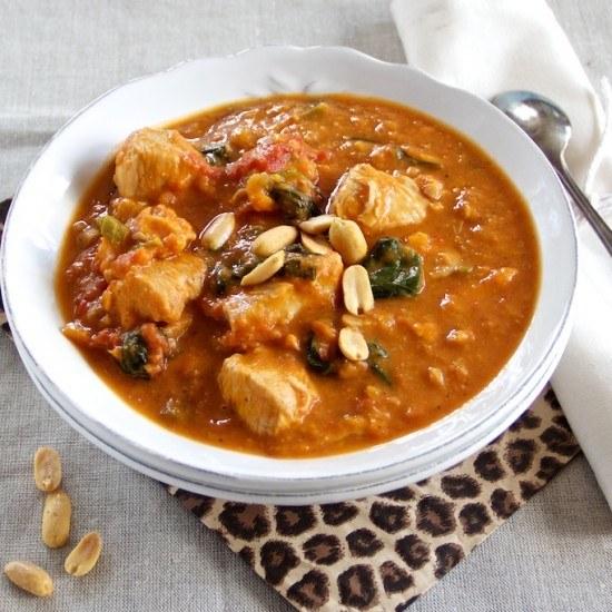 Rezept Afrikanische Hühnersuppe mit Erdnussbutter