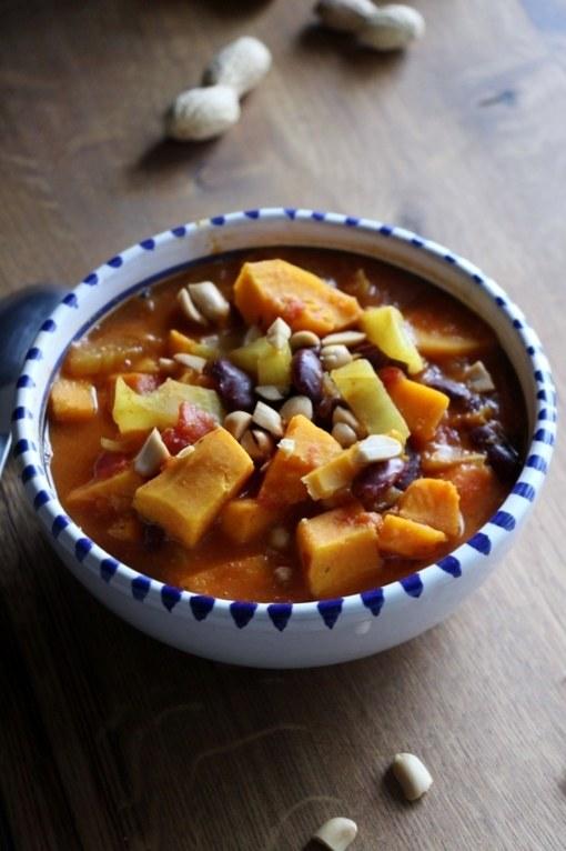 Rezept Afrikanischer Süsskartoffel - Erdnuss Eintopf