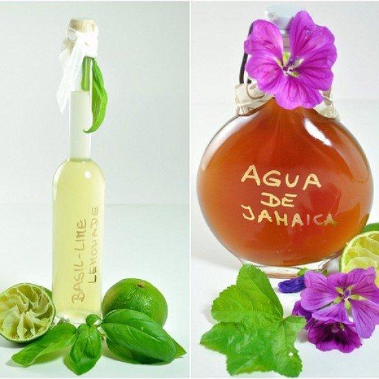 Rezept Agua de Jamaica und Basilikum-Limetten Limonade