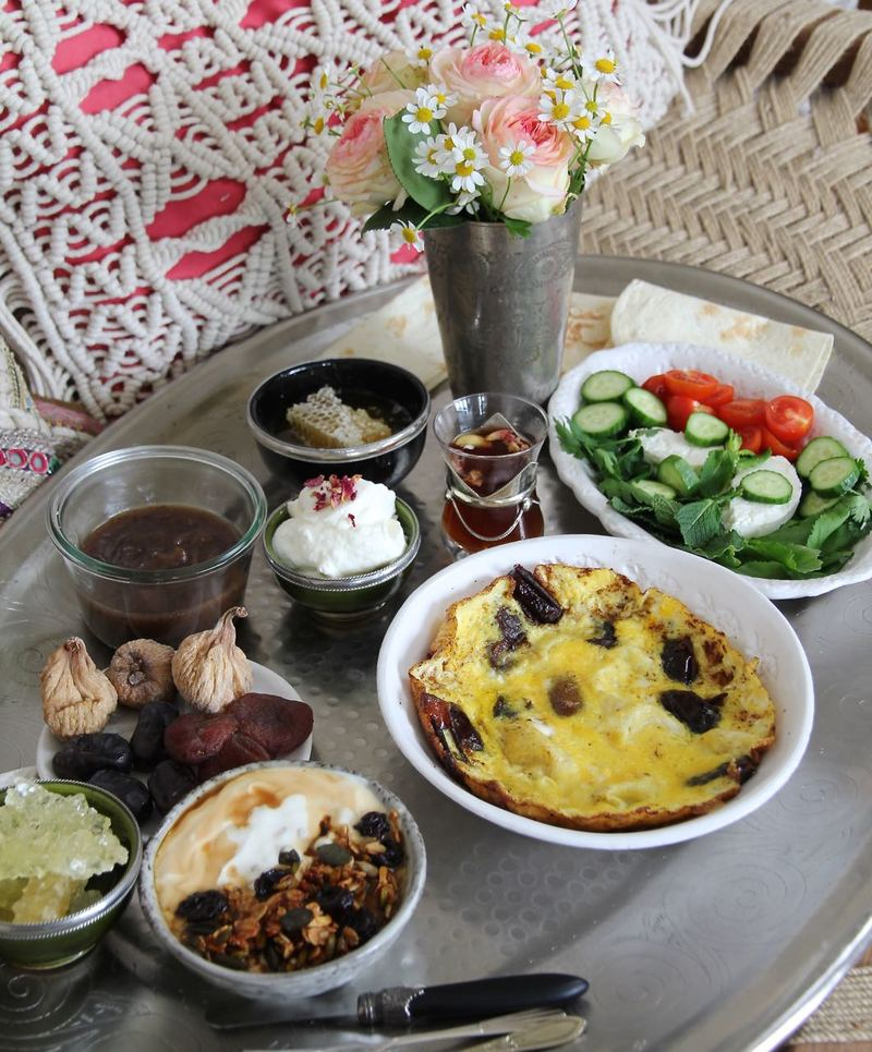 Rezept Ajil-Granola - persisches Frühstück zum Muttertag