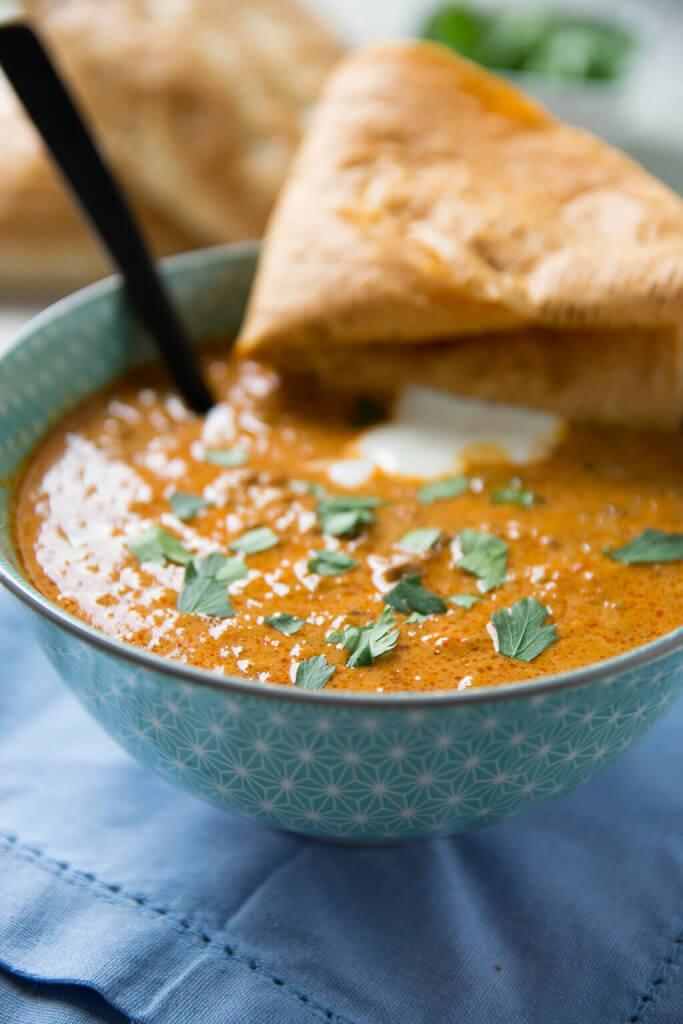 Rezept Ajvar Suppe mit Hackfleisch
