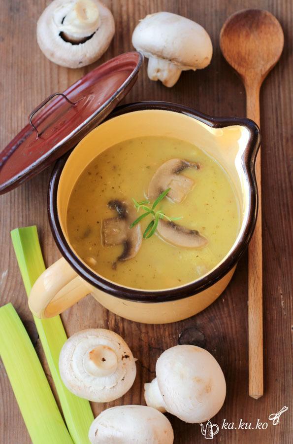Rezept Alt-Wiener Kartoffel-Lauchsuppe mit Champignons