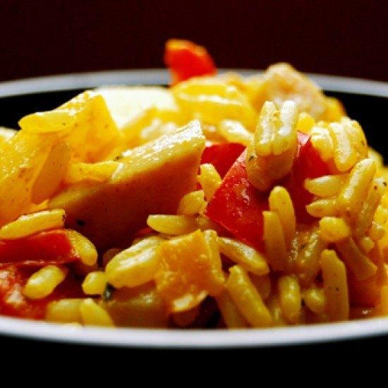 Rezept Ananas - Curry - Reis