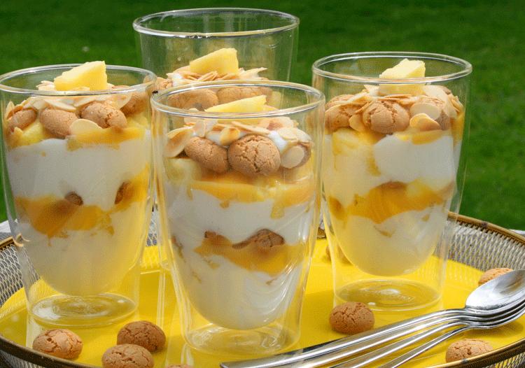 Rezept Ananas-Eierlikör-Schichtdessert