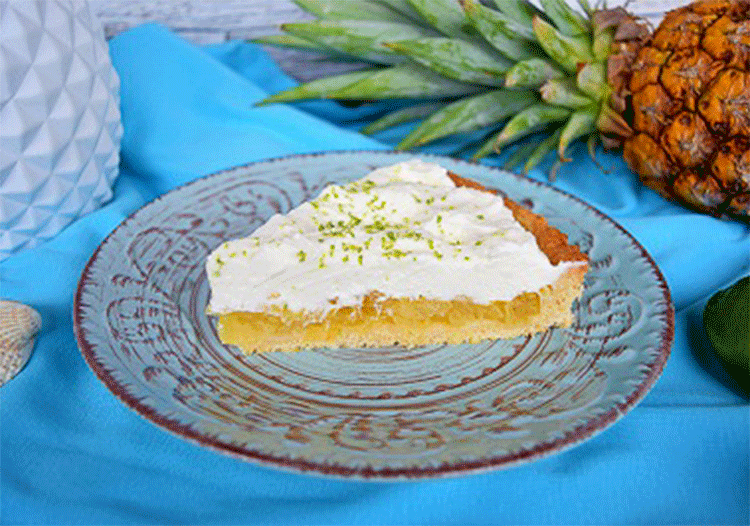 Rezept Ananas-Kuchen mit Limettensahne (Gastbeitrag)