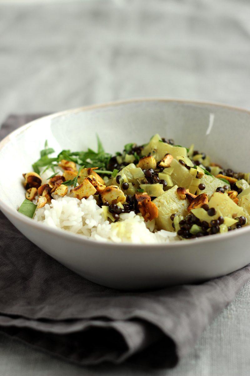 Rezept Ananas-Linsen-Curry mit Cashewkernen
