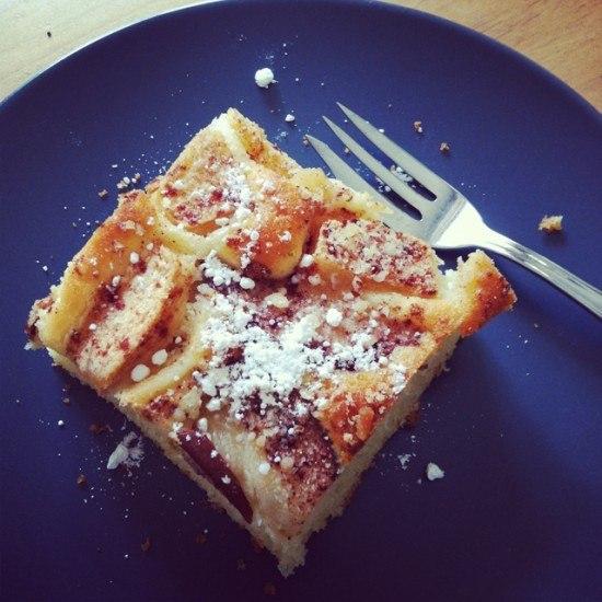 Rezept Apfel-Birnen-Blechkuchen