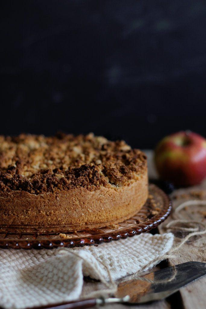 Rezept Apfel-Brombeer Kuchen mit Haselnussstreusel