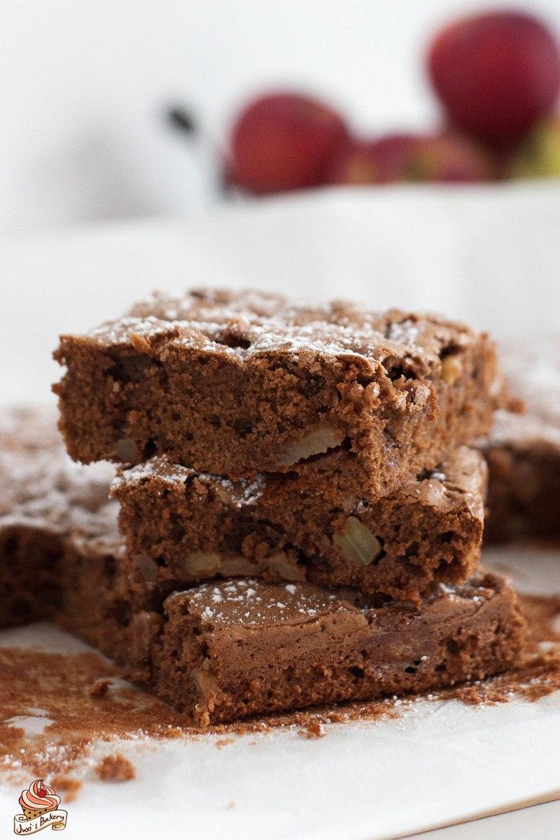 Rezept Apfel-Brownies